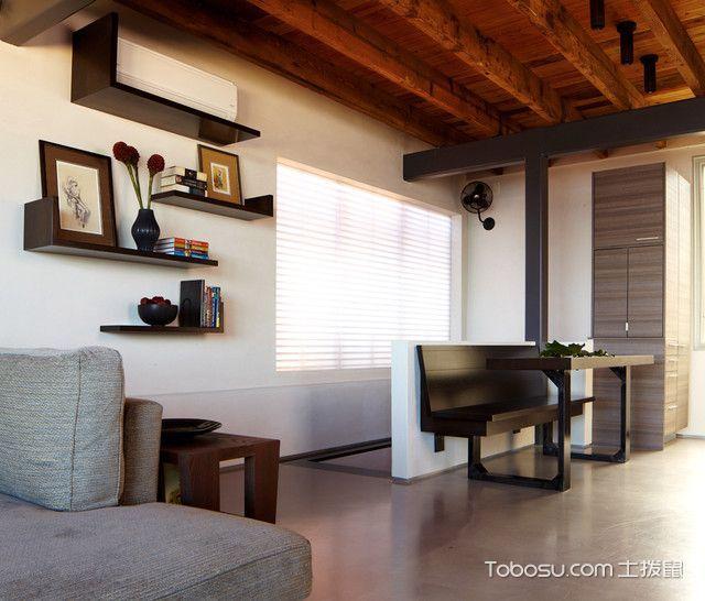 客厅咖啡色书架现代风格装修效果图