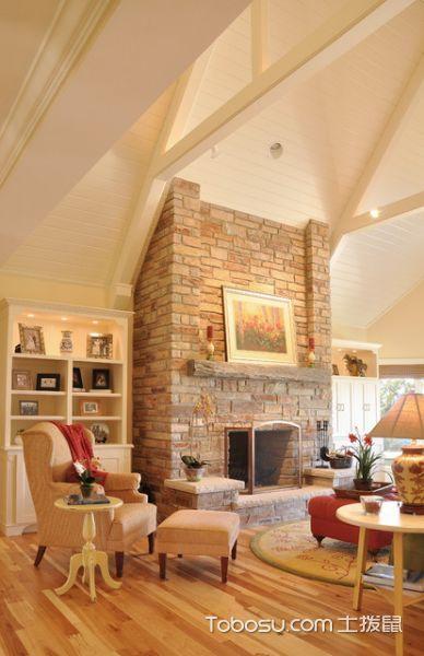 客厅灰色背景墙美式风格装潢效果图