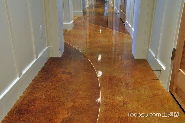 客厅黄色走廊美式风格装修图片