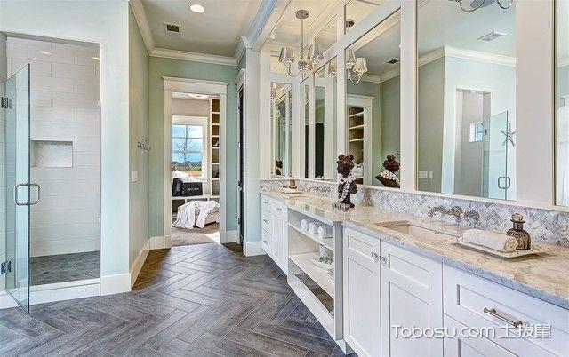 卫生间白色吧台美式风格装修效果图