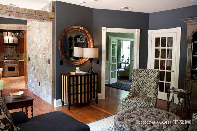 客厅灰色细节美式风格装修效果图