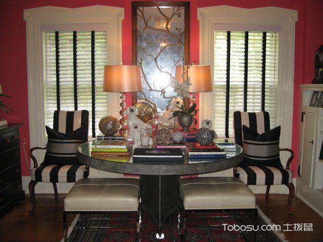 客厅咖啡色细节美式风格装修图片