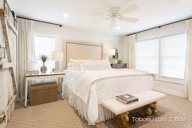 卧室白色榻榻米美式风格装修图片