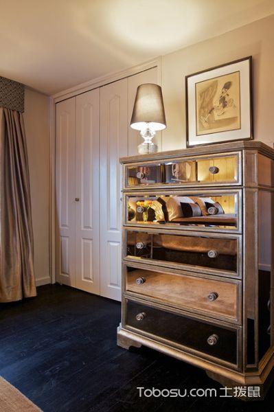 卧室咖啡色衣柜混搭风格装饰设计图片