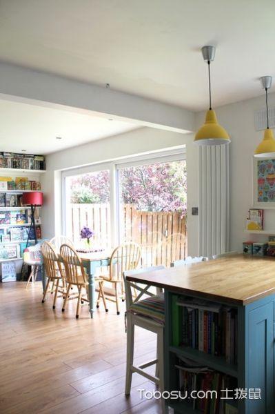 厨房黄色灯具混搭风格效果图