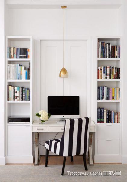 客厅白色书架现代风格装潢图片
