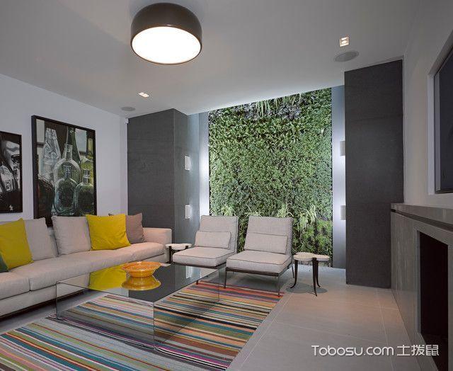 客厅黑色灯具现代风格装饰效果图
