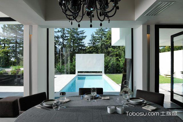 餐厅灰色细节现代风格装潢效果图