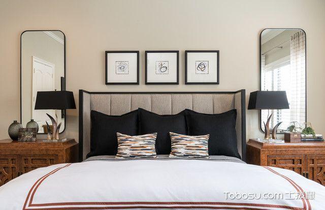 卧室黑色灯具现代风格装修效果图