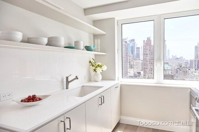 厨房白色橱柜现代风格装潢效果图