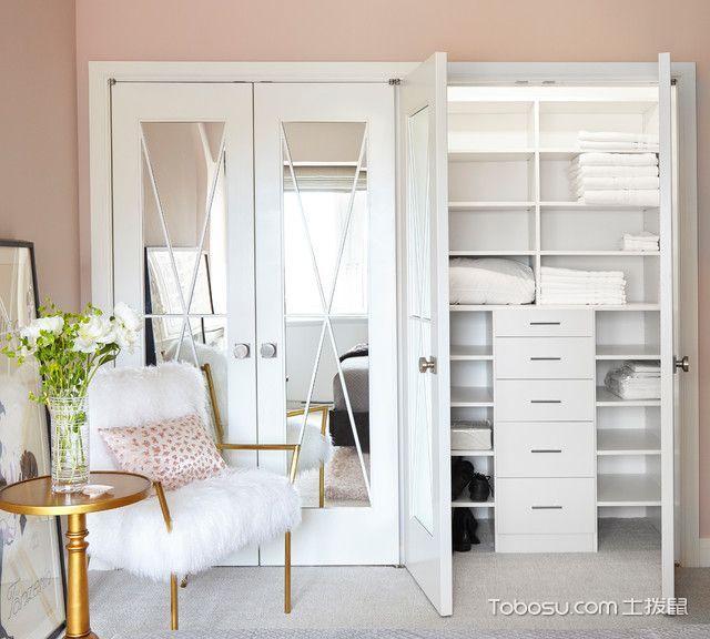 卧室白色衣柜现代风格装饰设计图片