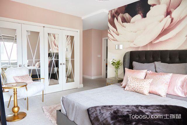 卧室灰色床现代风格装潢设计图片