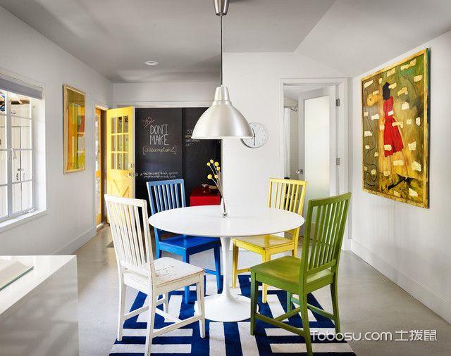 餐厅白色细节现代风格装饰图片