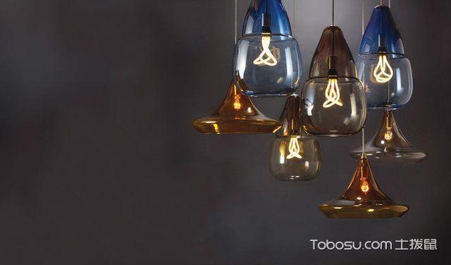 卧室彩色灯具现代风格效果图