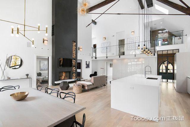 客厅白色细节现代风格效果图