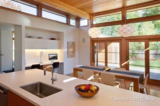 清新简约现代风格厨房装修效果图