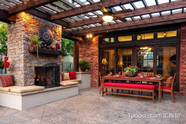 休闲质感美式风格阳台装修效果图