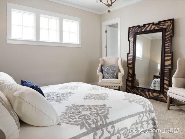 卧室白色榻榻米美式风格效果图