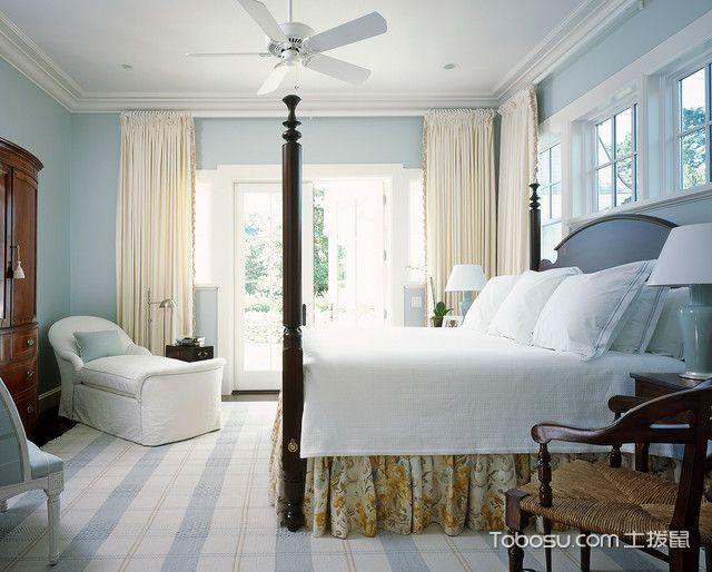卧室美式风格装潢设计图片