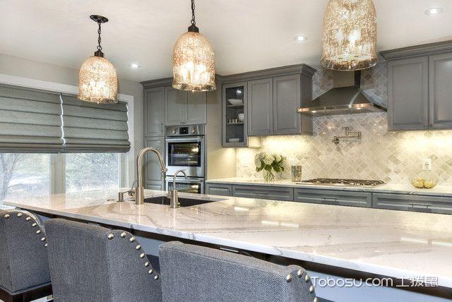 厨房美式风格装饰设计图片