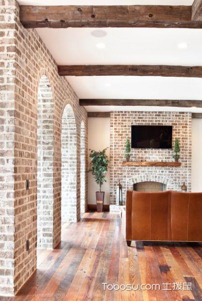 清新简约美式风格客厅装修效果图_土拨鼠2017装修图片大全