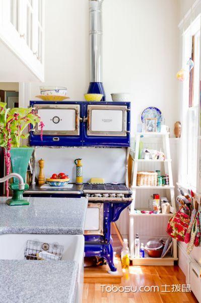 厨房白色隔断简欧风格装饰效果图