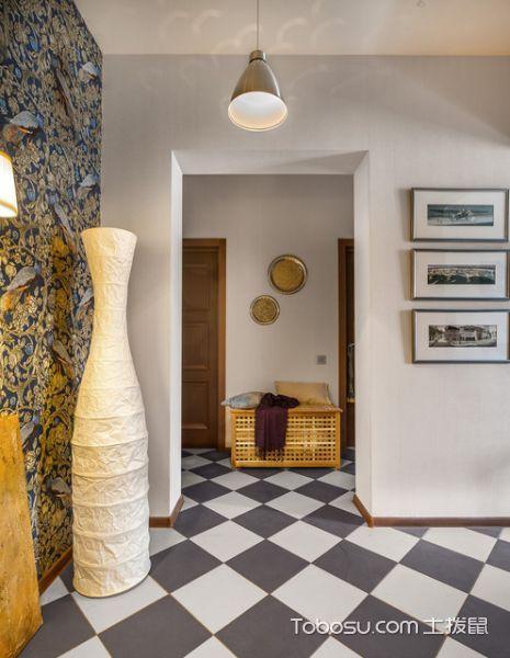 客厅白色细节混搭风格装饰图片