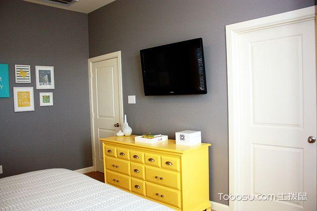 卧室黄色茶几混搭风格效果图