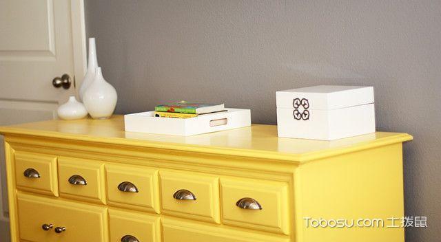 卧室黄色细节混搭风格装修效果图