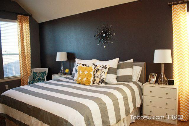 卧室白色吊顶混搭风格装潢效果图
