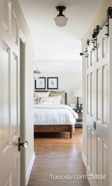 卧室白色吊顶混搭风格装饰图片