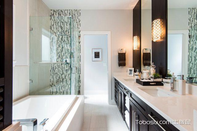 卫生间白色细节现代风格装潢效果图