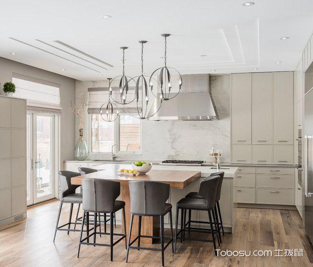 厨房白色吧台现代风格装饰效果图