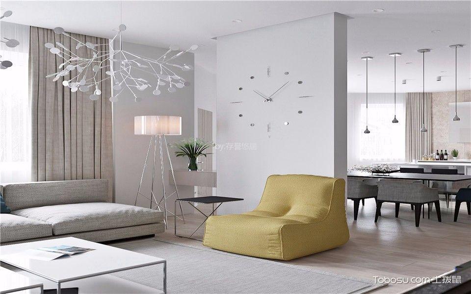 客厅 隔断_新城南都170平米现代简约风格三室装修效果图