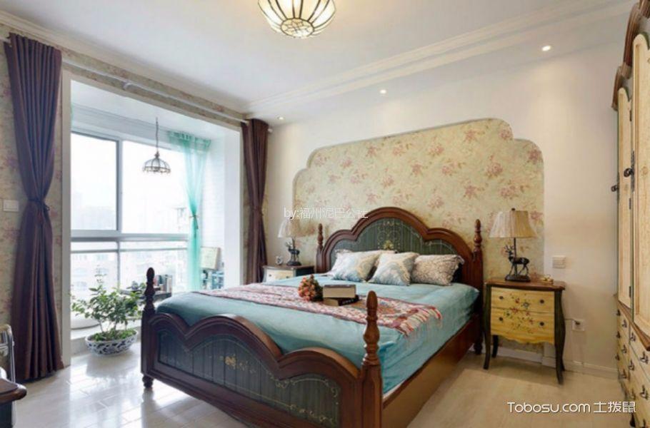 地中海风格120平米三室两厅新房装修效果图