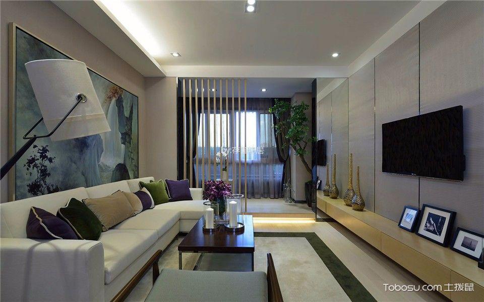 梧桐香郡120平米现代简约风格二室装修效果图
