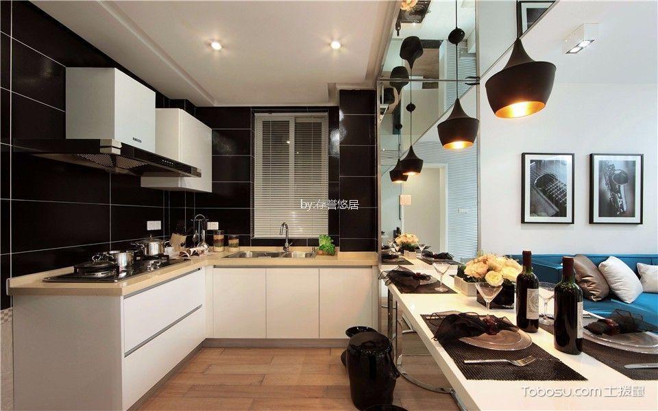 厨房 隔断_新城南都140平米现代简约风格两室装修效果图