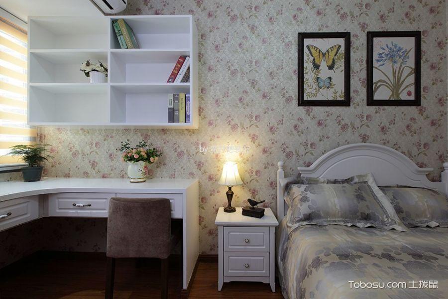 卧室 背景墙_湖畔林语90平米简欧风格二居室装修效果图