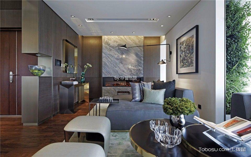 现代简约风格360平米复式新房装修效果图