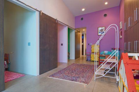 儿童房紫色细节现代风格装修图片