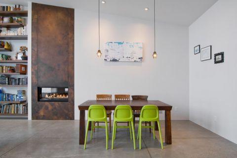 餐厅咖啡色餐桌现代风格装饰图片