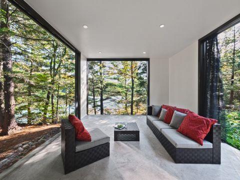客厅白色背景墙现代风格装修设计图片