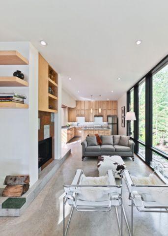 客厅白色细节现代风格装饰设计图片