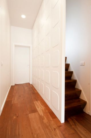 玄关咖啡色走廊现代风格效果图