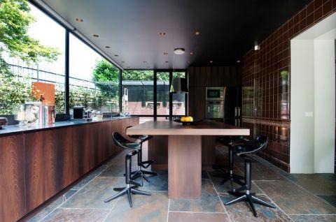 厨房咖啡色背景墙现代风格装修效果图