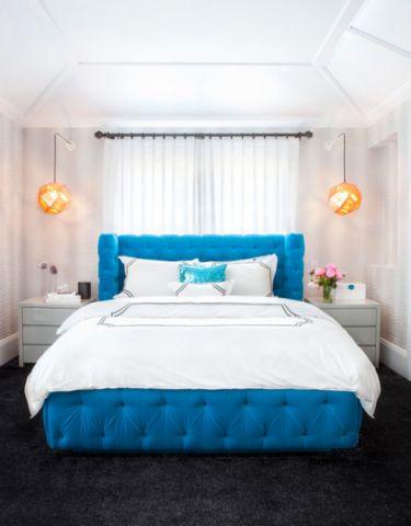 儿童房蓝色榻榻米现代风格效果图