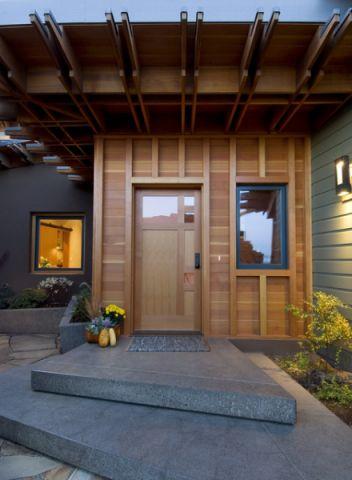 玄关黄色门厅现代风格装潢效果图