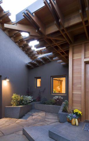 花园灰色细节现代风格装修设计图片