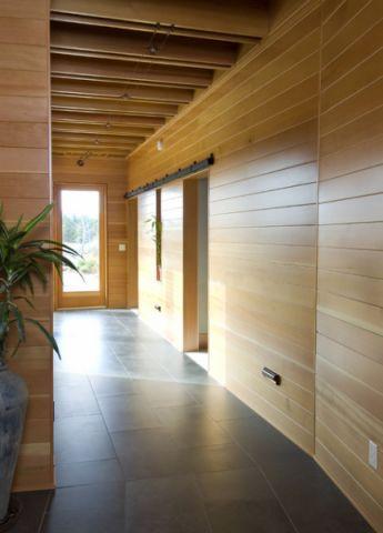 玄关灰色地砖现代风格装饰设计图片