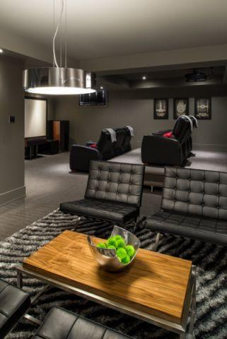 潮流个性现代风格地下室装修效果图